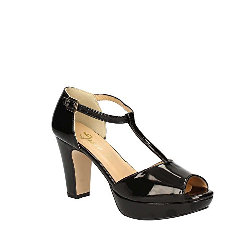 GRACE SHOES 9850 Sandalo tacco Donna Nero
