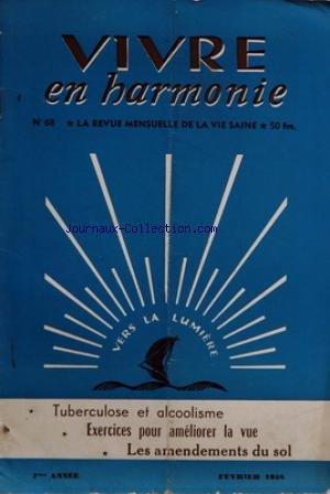 VIVRE EN HARMONIE [No 68] du 01/02/1958