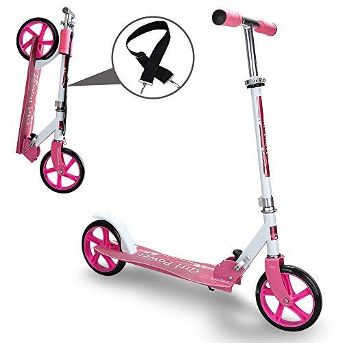 Kinderroller klappbar Höhenverstellbar Big wheels Mädchen und Junge Freizeit City Roller klappbar -