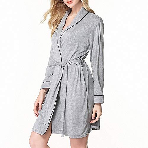Aqua Floral Pyjama (ZREED Frauen Bademantel, Kimono Robe Modal Bademantel für Spa Hotel Nachtwäsche)