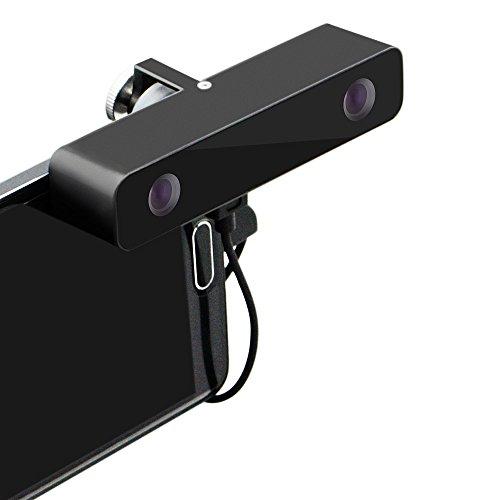 Svpro Dual Lens VR 3D-Kamera mit Aluminiumkasten für Samsung-Handy Galaxy S5 / S6/ S7 3D-Videokamera Durch VR displayer(schwarz)