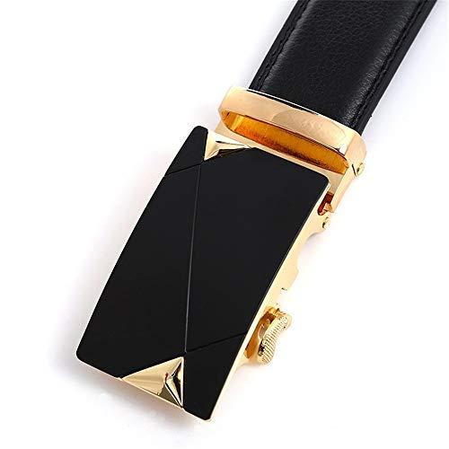 3ba59f72e8 SBORT Cintura da uomo con fibbia automatica in oro e vita in oro, 110 cm