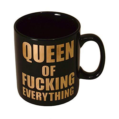 Queen of Fucking Everything XXL Kaffeebecher mit goldener Schrift - Kaffeetasse
