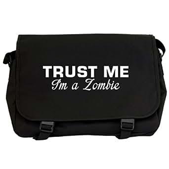 Trust Me I'm A Zombie Messenger Bag - Black