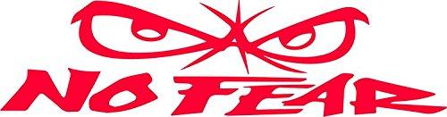 Unbekannt No Fear Autoaufkleber geplottet Rot JDM Fun Sticker ca. 21x6 cm Aufkleber Tuning Stickerbomb