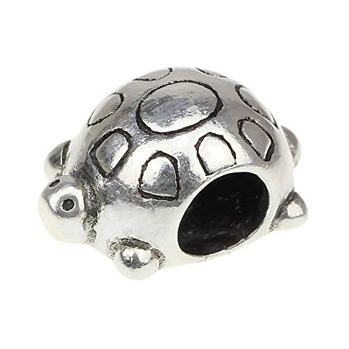 Perles Hunter Argent Sterling 925Charms Animaux compatible avec bracelet chaîne serpent européenne curved back turtle
