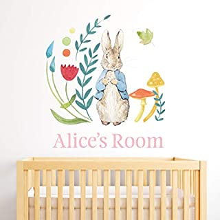 Beautiful Game Official Peter Rabbit Personalised Wall Sticker Mural PB003 (90cm Height x 75cm Width)