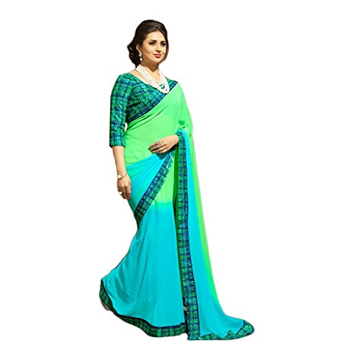 Vedant Georgette Saree (110_Turquoise)