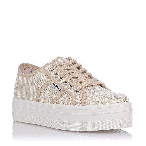 Victoria Unisex Basket Adulto Tejido Lurex Baby Sneakers Da Ginnastica Oro