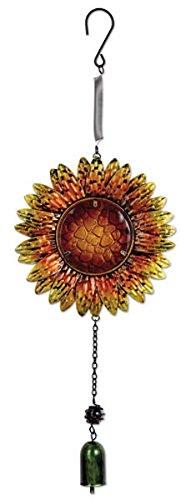 Sunset Vista Designs Metall und Glas Sonnenblume Bouncy Dekoration zum Aufhängen (Spinner Sunburst)