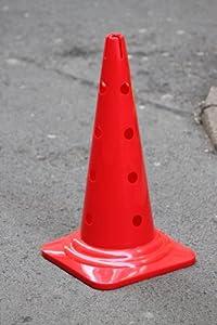 agility sport pour chiens - cône avec trous, 50 cm, rouge - 1x MZK50r