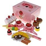 F Fityle Kinder Lebensmittel Schneiden Spielzeug mit Holz Besteck für Arbeitsfähigkeit und Lebensfähigkeit zum Lernen