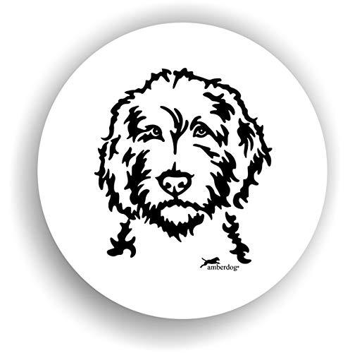 amberdog Hunde Labradoodle Sticker Auto Aufkleber Art.STK0230 Autoaufkleber Aufkleber Wohnmobil Wohnwagen