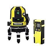 Firecore FIR411G 50M Outdoor 5 linea laser Autolivellante e filo a punto con rilevatore, verde