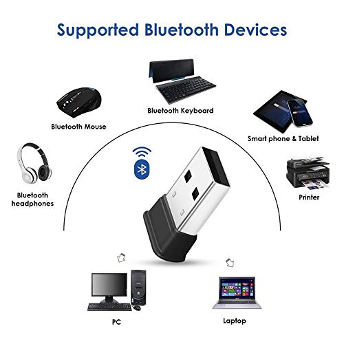 FEDUS Bluetooth Adapter, CSR 4.0 Bluetooth Dongle, Wireless USB Bluetooth 4.0 Receiver and Transmitter, for PC, Laptop Desktop Computer for Windows 10, 8.1, 8, 7, Vista, XP, Linux and Raspberry PI