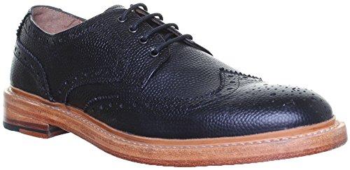 Justin Reece Freddie, Chaussures de ville à lacets pour homme Noir