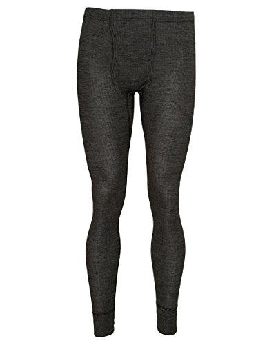 Cosilana, Herren Leggings / lange Unterhose, 45% kbA Baumwolle, 35% kbT Wolle, 20% Seide Schwarz Melange
