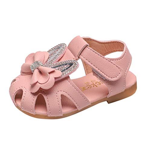 LILIHOT Kleinkind-Säuglingsbaby Süße Elegante Bowknot Kristall Prinzessin Shoes Sandals Kinder Schuhe Infant Baby Mädchen Einzelne Schuhe Party Single Casual Sneaker -