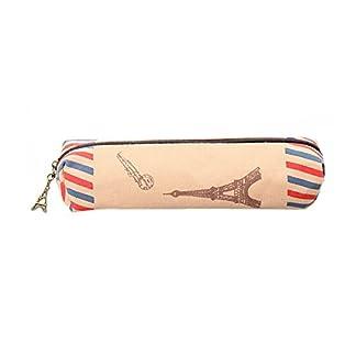 Drawihi Stylo Tenue Box vintage British Trousse à crayons Tenue sur toile Motif Tour Trousse Sac