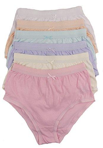 cottonique Damen 6 Paar von voll Baumwolle Slip in Farbauswahl 36-54  Übergrößen Verschiedene Pastelltöne