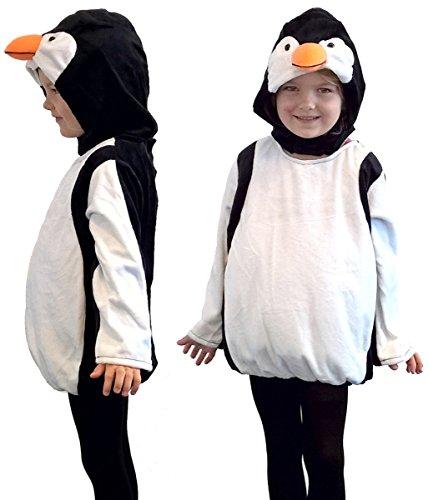 Pinguin Weste Mütze Karneval Fasching Gr.98/104 (Pinguin-kostüme Für Kinder)