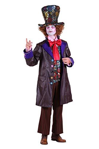 Thetru Herren Kostüm verrückter Hutmacher Clown Karneval Fasching Gr.L (Kostüm Hutmacher Für Herren Verrückter)