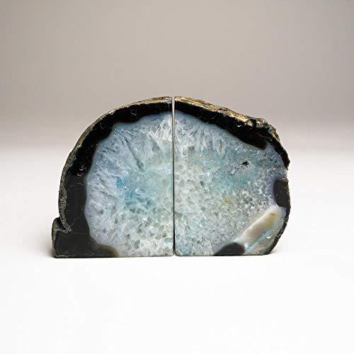 Astro Gallery of Gems Buchstützen aus Brasilien, mit Band und Achat, ca. 57 kg