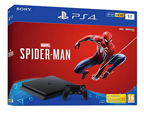 PS4 1 To F – noir + Marvel's Spider-Man Standard Edition