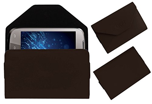 Acm Premium Pouch Case For Lava Xolo A500 Flip Flap Cover Holder Brown  available at amazon for Rs.329