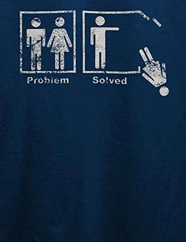 Problem Solved Vintage T-Shirt Navy Blau