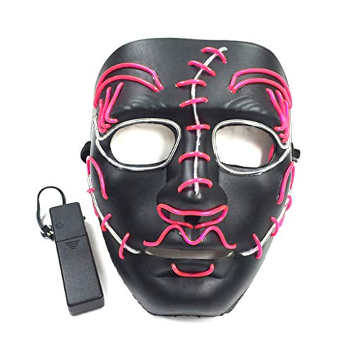 Erisl Gruselige LED-Maske zum Entfernen von Draht für Halloween, Party, Cosplay, Kostüm, Festival, Dekoration (Gruselig Pferd Maske Kostüm)