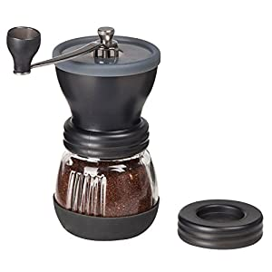 Lychee Manual Ceramic Coffee Grinder High Quality Burr Coffee Grinder Adjustable Coffee Maker With Grinder For Espresso Roasted Coffee Bean Grinder (Black)