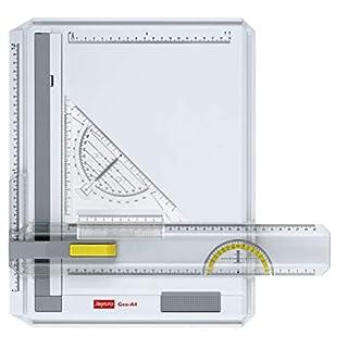 Aristo AR70442 Geo-Board Zeichenplatte (Format: A4, schlagfester Kunststoff, inkl. Schnellzeichendreieck AR7090) weiß