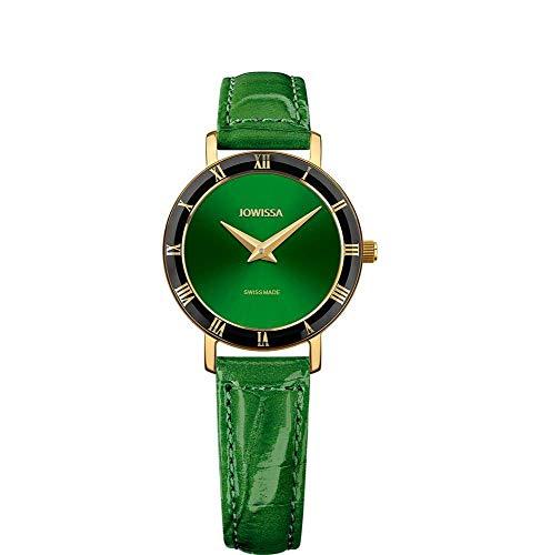 Jowissa Roma Swiss J2.273.S - Reloj de Pulsera para Mujer, Color Verde y Dorado