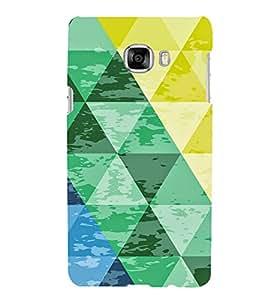 PrintVisa Triangles Pattern 3D Hard Polycarbonate Designer Back Case Cover for Samsung C7