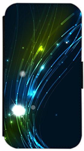 Kuna Flip Cover für Apple iPhone 5 / 5s Design K407 London Big Ben Bus Doppeldecker England Hülle aus Kunst-Leder Handy Tasche Etui mit Kreditkartenfächern Schutzhülle Case Wallet Buchflip Rückseite S K423