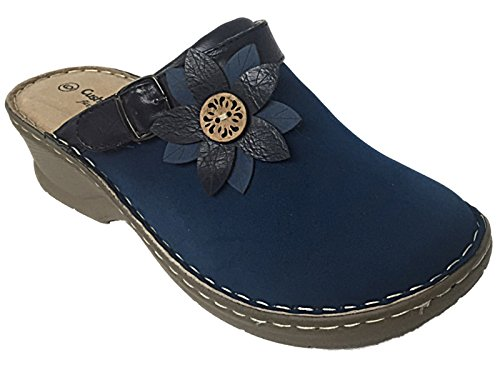 Cushion Walk ,  Damen Clogs Navy