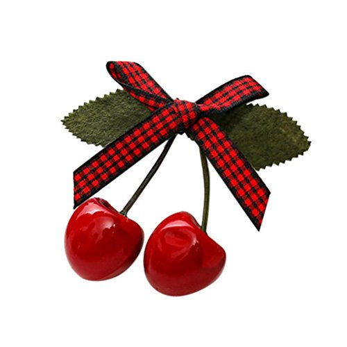 1pcs-lovely-sweet-girls-retro-vintage-pink-bow-cherry-hair-clip-hairpin