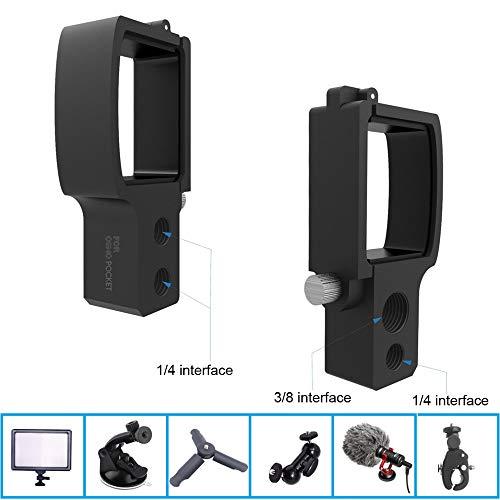 VICKY-HOHO Handheld-Gimbal-Erweiterungsplatinen-Adapterplatte für DJI OSMO Pocket (schwarz)