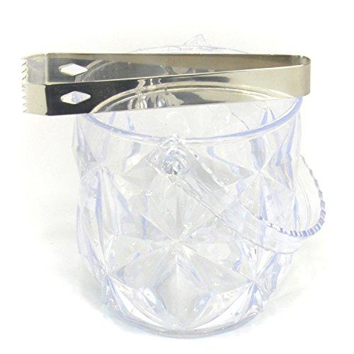 HAPPYNUTS Seau à Glace Pinces & acrylique 44 Seau à glace avec pince (Acryl-scoop)