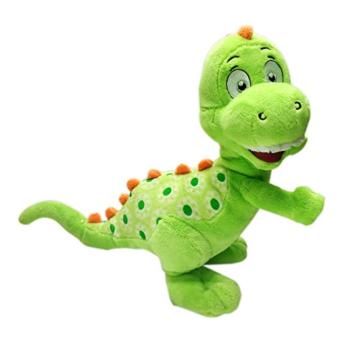 Baby Dinosaur Plush Green & Red Colour 25 cm for Children of minimum 1 Year | Soft Toy | Plush Toy | Imported Premium Quality | Green & Red Colour