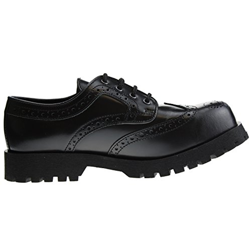 Boots & Braces Schuhe 4-Loch Budapester Schwarz, Schwarz, 45 EU