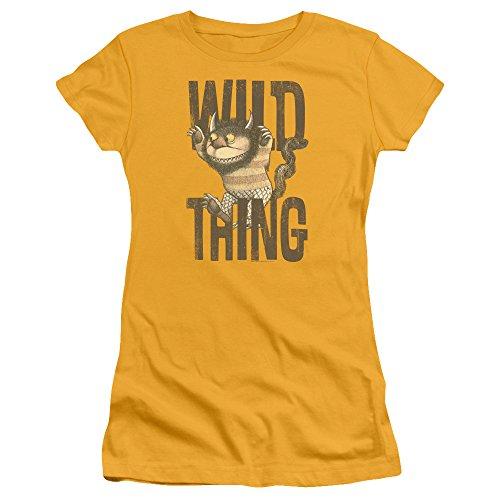 Where The Wild Things Are - Wo die Wilden Kerle sind - Das Wild Thing T-Shirt der Jungen Frauen, Medium, Gold