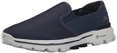 Skechers GO Walk 3 Charge, Sneakers basses homme, Bleu - Blau (NVGY), 42.5