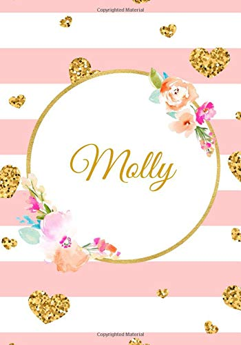 Molly: Customized Name Lined Journal Notebook Diary to Write In, Ruled Composition Planner, For Home Work Stationery, Great Gift for Girls Women, ... Much More (Personalized Name Gifts, Band 172) -