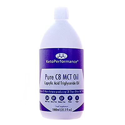 Premium C8 MCT Oil | Produces 3X More Ketones Than Other MCT Oils | Highest Purity of C8 MCT Available with 99.3% Purity | Pure Caprylic Acid Triglycerides | Paleo & Vegan Friendly | Gluten Free | BPA Free Bottle | KetoPerformance®