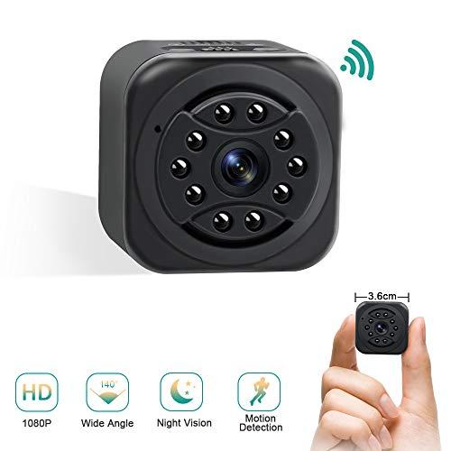 Mini Kamera WiFi UYIKOO Kleine Kamera 140° Weitwinkel Minikamera 1080P HD für Innen/Draussen Überwachung mit Nachtsicht und Bewegungserkennung