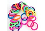 #4: 12 Pcs High Quality Effortless Multi Bright Colored Elastic Cotton Stretch Hair Ties Bands Headband Durable Hair accessories Ponytail Holder No Snagging Or Stretching Rubber Bands,12 X Multicolor Girl Elastic Hairband Ties Rope Band Ponytail Holder, Multicolor Elastic Hair Ties Bands For Girls and women ,Multicolour Ponytail Holders Hair Bands For Girls/Women