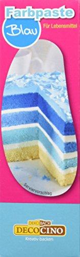 Dekoback Lebensmittelfarbe Blau Paste, 1er Pack (1 x 25 g)