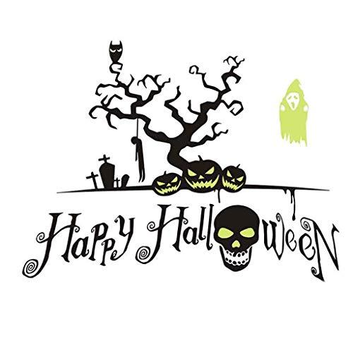 Bad Blasen Kostüm - Masrin Happy Halloween Hintergrund Wandaufkleber Fenster Dekoration Abziehbild Dekor (B, Mehrfarbig)